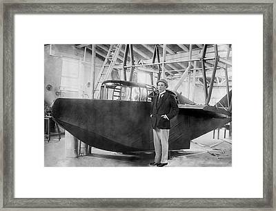Porte And Seaplane 'america', 1914 Framed Print