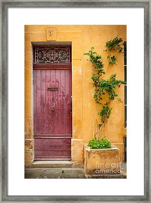Porte Rouge Framed Print by Inge Johnsson