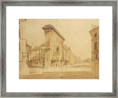 Porte St Denis, Paris Framed Print by Thomas Girtin