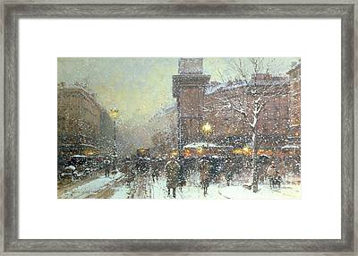 Porte St Martin In Paris Framed Print