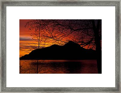 Porteau Cove Sunset Revisited Framed Print