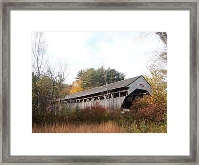 Porter Covered Bridge Framed Print by Catherine Gagne