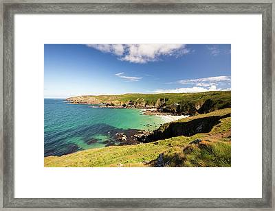 Porth Glaze Cove Near Gurnards Head Framed Print by Ashley Cooper