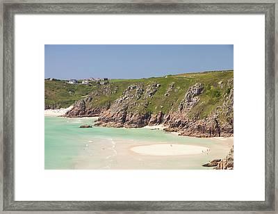 Porthcurno Beach Framed Print