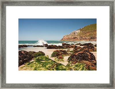 Portheras Cove Near St Just Framed Print by Ashley Cooper