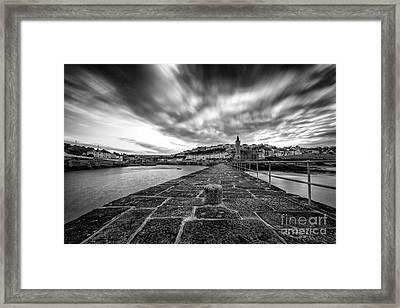 Porthleven Pier Framed Print by John Farnan