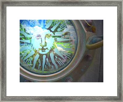 Porthole To The Secret Garden Framed Print
