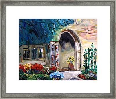Portico Framed Print by Mary Carol Williams