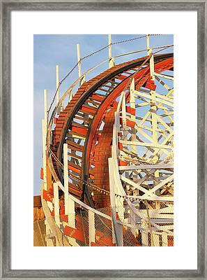 Portion Of Rollercoaster Framed Print by Panoramic Images