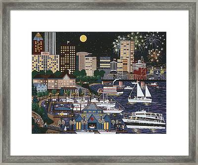 Portland @ Night Framed Print