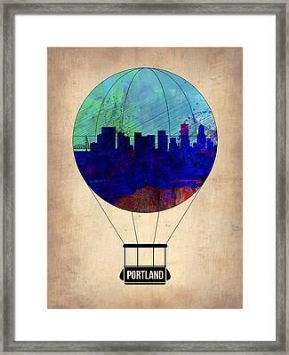 Portland Air Balloon Framed Print