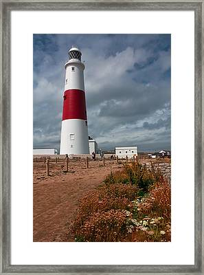 Portland Bill Lighthouse Framed Print by Shirley Mitchell