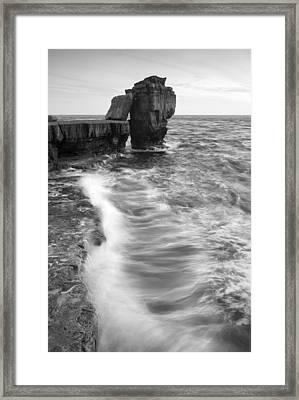 Portland Bill Seascape Framed Print