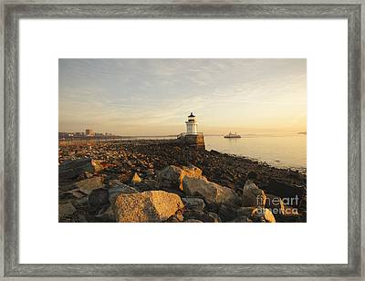 Portland Breakwater Light - Portland Maine Framed Print by Erin Paul Donovan