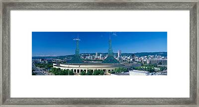 Portland Convention Center, Morning Framed Print