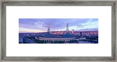 Portland Convention Center, Sunrise Framed Print