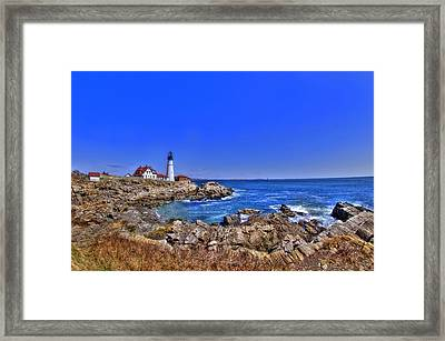 Portland Head Light 4 Framed Print by Joann Vitali