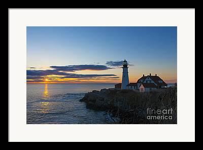 Portland Lighthouse Framed Prints
