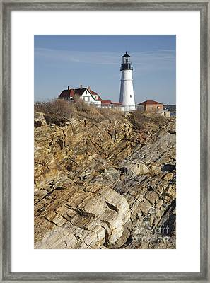 Portland Head Light - Cape Elizabeth Maine Framed Print by Erin Paul Donovan