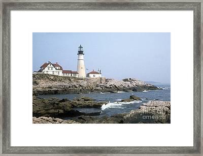 Framed Print featuring the photograph Portland Head Light by ELDavis Photography
