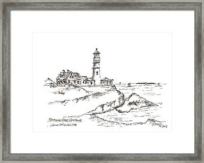 Portland Head Light Framed Print by Jason Nicholas