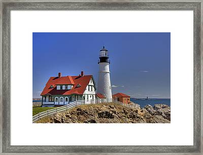 Portland Head Light Framed Print by Joann Vitali