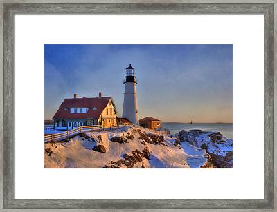 Portland Head Light - New England Lighthouse - Cape Elizabeth Maine Framed Print by Joann Vitali