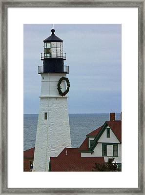 Framed Print featuring the photograph Portland Head Lighthouse by Amazing Jules