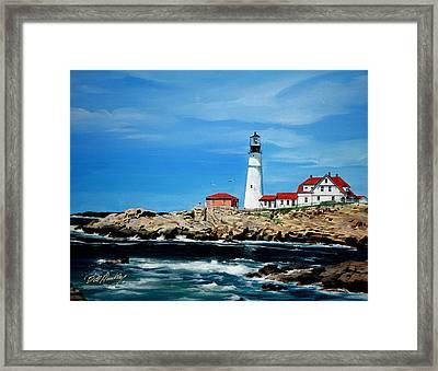 Portland Head Lighthouse Framed Print by Bill Dunkley
