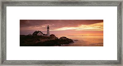 Portland Head Lighthouse, Cape Framed Print by Panoramic Images