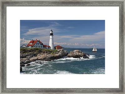 Portland Head Lighthouse Framed Print by Daniel Behm