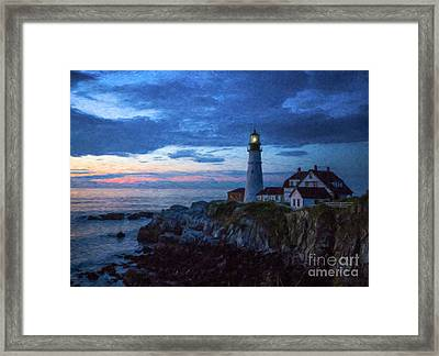 Portland Head Lighthouse Framed Print by Diane Diederich