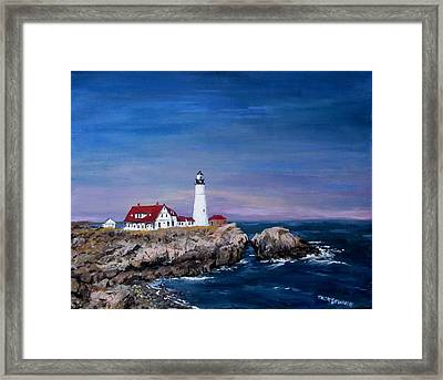 Portland Head Lighthouse Framed Print by Jack Skinner