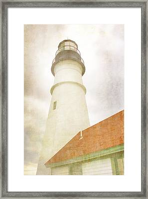 Portland Head Lighthouse Maine Framed Print by Carol Leigh