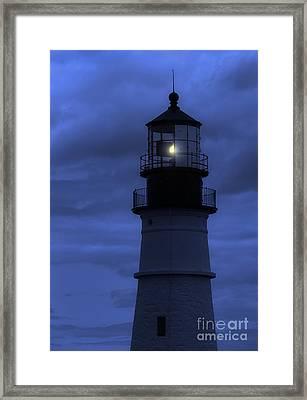 Portland Head Lighthouse Silhouette Framed Print
