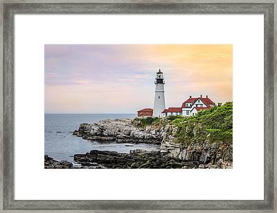 Framed Print featuring the photograph Portland Head Lighthouse  by Trace Kittrell