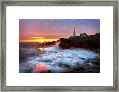 Portland Head Sunrise Framed Print