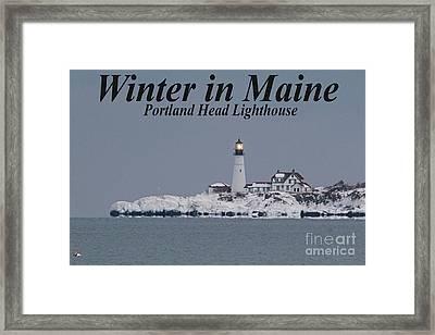 Portland Head_9983a Framed Print by Joseph Marquis