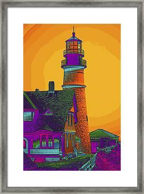 Portland Headlight Framed Print by Susan Elizabeth Dalton