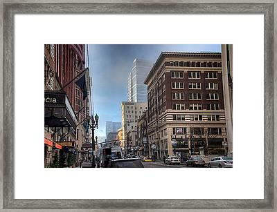 Portland Hustle Framed Print by Spencer McDonald