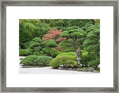 Portland Japanese Garden, Oregon Framed Print