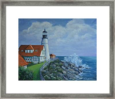 Portland Light House Framed Print