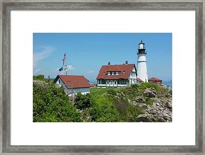 Portland, Maine, Lighthouse Famous Framed Print