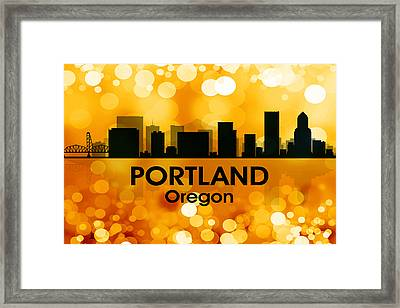 Portland Or 3 Framed Print by Angelina Vick