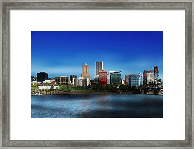 Oregon Framed Print featuring the photograph Portland Oregon by Aaron Berg