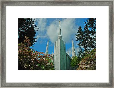 Portland Oregon Lds Temple Framed Print