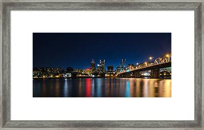 Portland Oregon Nightscape Framed Print