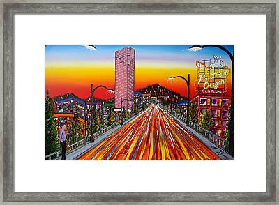 Portland Oregon Sign 14 Framed Print by Portland Art Creations