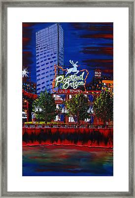 Portland Oregon Sign 15 Framed Print by Portland Art Creations