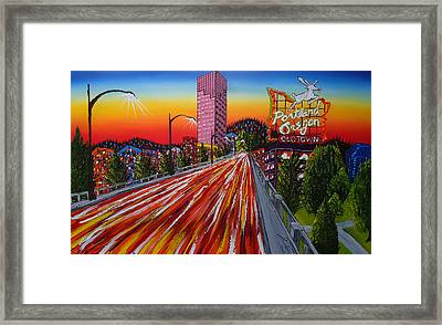 Portland Oregon Sign 16 Framed Print by Portland Art Creations